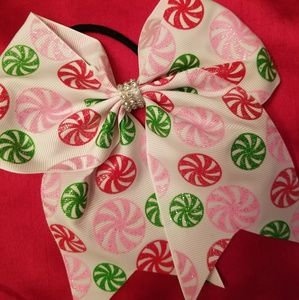 Other - 🎀🍭Precious peppermint Christmas bow!🍭🎀